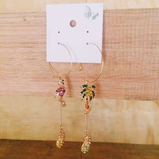 Hoops Flamingo Pink Earrings
