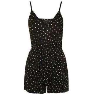 Authentic Bershka Romper (Black) Polka dots