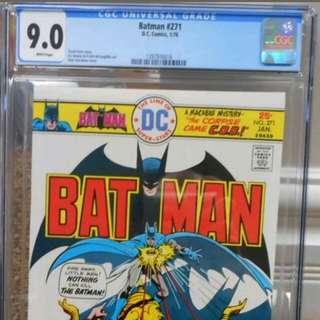 Batman#271 Vintage Graded Comic 1976