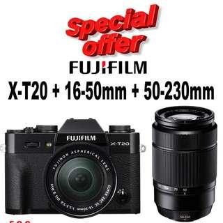 Fujifilm X-T20 16-50mm + 50-230mm