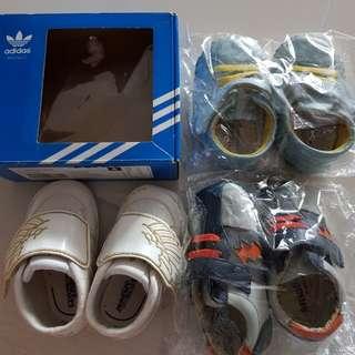 3 pairs Baby prewalker shoes