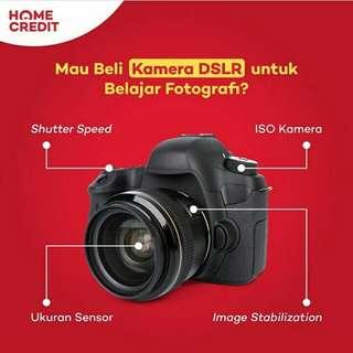 Kredit Kamera DSLR, Promo Tanpa Kartu Kredit