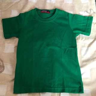 Unisex green plain shirt