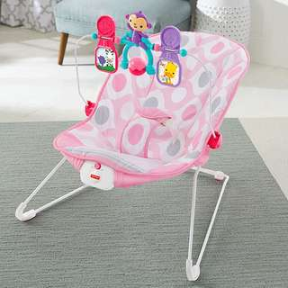 Fisher-Price CMR11 Baby's Bouncer - Pink Ellipse