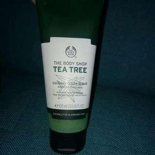 Tea tree squeaky clean scrub