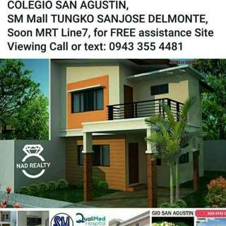 House and Lot near Qualimed hospital and SM mall tungko Sanjose delmonte Bulacan,for Free assistance Site Viewing Call or text:09433554481