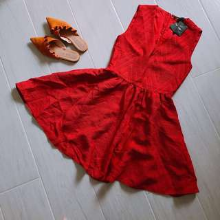 Maje Red A-Line dress authentic + tag