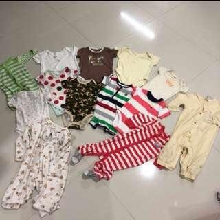 [Preloved] (0-12M) Baby Clothings In Bundle