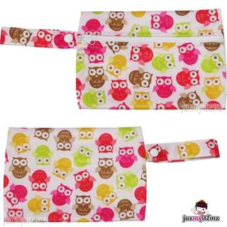 Multipurpose Small Wetbag | Clutch | Pouch - MiniF - Owl