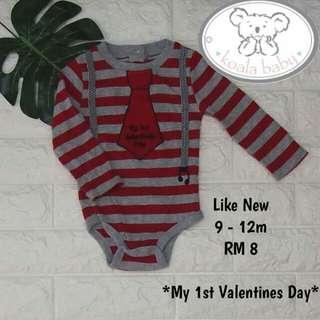 Valentine's Day Baby Romper