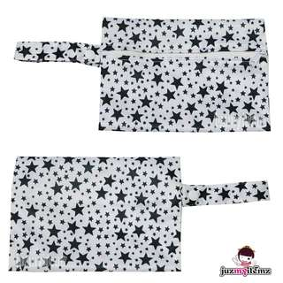 Multipurpose Small Wetbag | Clutch | Pouch - MiniE Black Star
