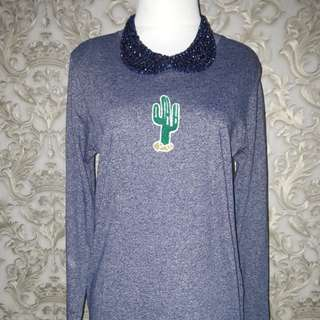Blue tunik top