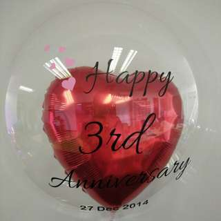 Anniversary balloon personal customise beautiful balloon