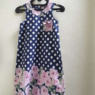 Pilkadot Cotton flower dress