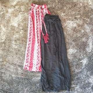Flowey Boho Maxi Skirt w belt S