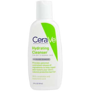 CeraVe, Hydrating Cleanser, For Dry to Normal Skin, 3 fl oz (87 ml)