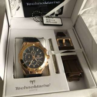 TECHNO MARINE CHRONOGRAPH WATCH - Rose Gold with complete box and cert