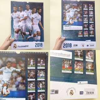 西甲 皇馬 皇家馬德里 2018 月曆 Real Madrid 2018 Calendar
