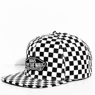 Vans Checkerboard Snapback Skateboarding Streetwear Cap