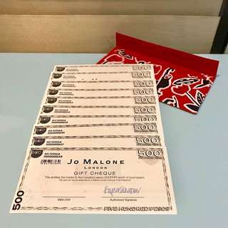 Jo Malone Gift Certificates Worth 5,000 Pesos (NO EXPIRY)
