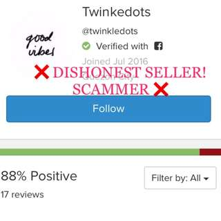 SCAMMER SELLER @twinkledots