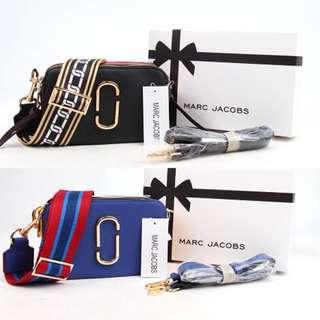 HOT Tas Marc Jacobs Snapshot MJ Emboss Sling Camera Bag Fashion Wanita Cewek Impor