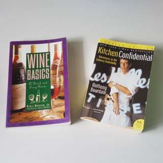 ANTHONY BOURDAIN & WINE BASIC books