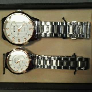 Newyork Army NYA145RG White Dial Stainless Steel Couple Watch