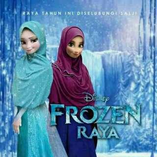 Frozen Design Kids Hijab / Scraft (Kids) Tudung Frozen