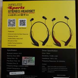 Wireless stereo sport headset