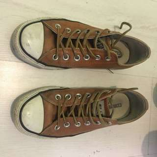 Converse leather shoes low cut