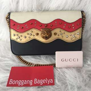 Gucci Limited Ed. Broadway Spiked Chain Shoulder Bag