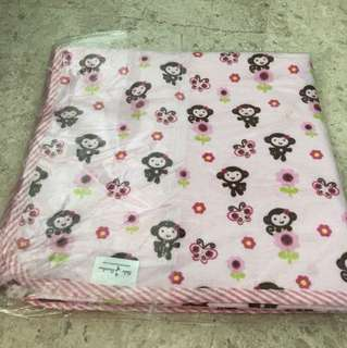 Bebe bamboo organic covers pink about 100 cm by 100cm ( have not unwrap to measure)