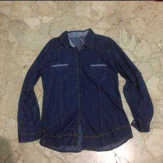 Kemeja Denim (Dark Blue)