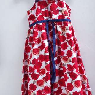 Dress red rose  '12