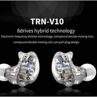 新品TRN V10 8單元圈鐵耳機