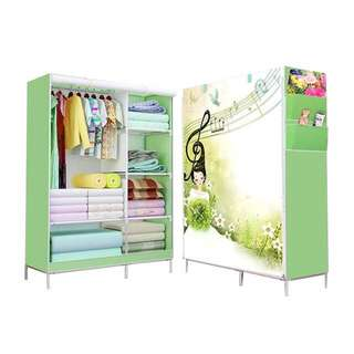 A126 New Multifunction Wardrobe/cloth Rack With Cover Lemari