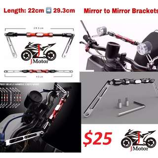 Mirror To Mirror Handlebar Brace / Clamp handle bar extension