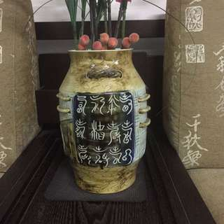 Ceramic porcelain antique display vase