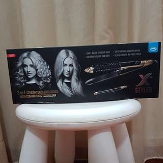 Brand New JML X Styler 2 in 1 Hair Straightener and Curler