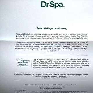🌟DrSpa  / DrGL Brighten and Firm Facial🌟