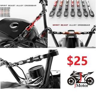 motorcycle motorbike motor bike crossbar cross bar alloy adjustable bar clamp handlebar