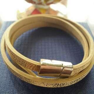 Fashion Leather Wrap Around Bracelet