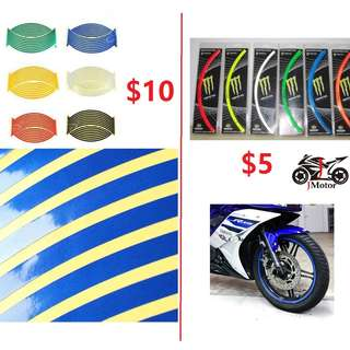 Motorcycle Reflective & Non Reflective Rim rims sticker stickers
