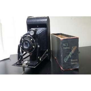 Authentic Clean Vintage 1920s No.2 Folding Brownie Camera by Kodak