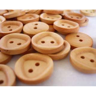 WB10051 - 15mm wood buttons, wooden buttons (10 pieces) #craft