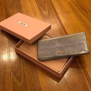 ORIGINAL Miu Miu bicolour foldover wallet