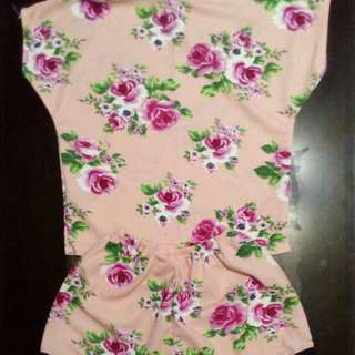 Teen's Floral Romper 6 to 12 Years Old Materials Crepe Soft Expandeble Retail P140 Wholesale 6pcs up P120