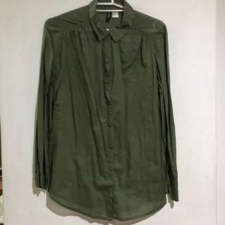 H&M Olive Polo