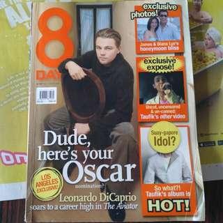 8 days Leonardo Di Caprio. Diana Ser. James Lye.